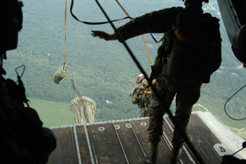 Steppin' out - AIRBORNE style.  ;-)