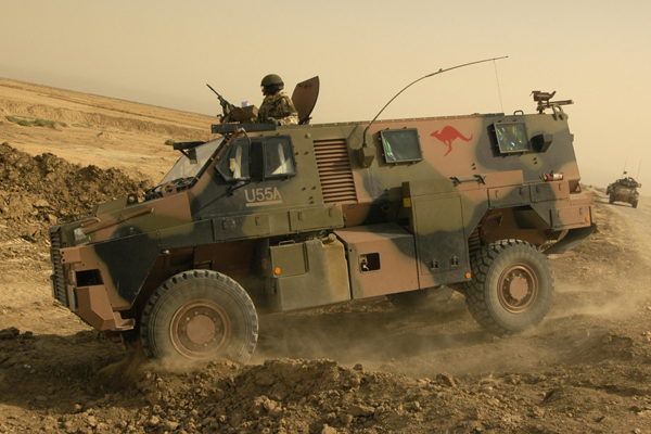 Australian designed and built Bushmaster in Iraq