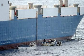 MV Faina being hijacked