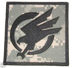 I think this is an airsoft team badge - I like the stylised look...