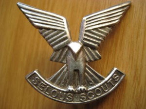 Rhodesian Selous Scouts cap badge - fantastic stylised look.