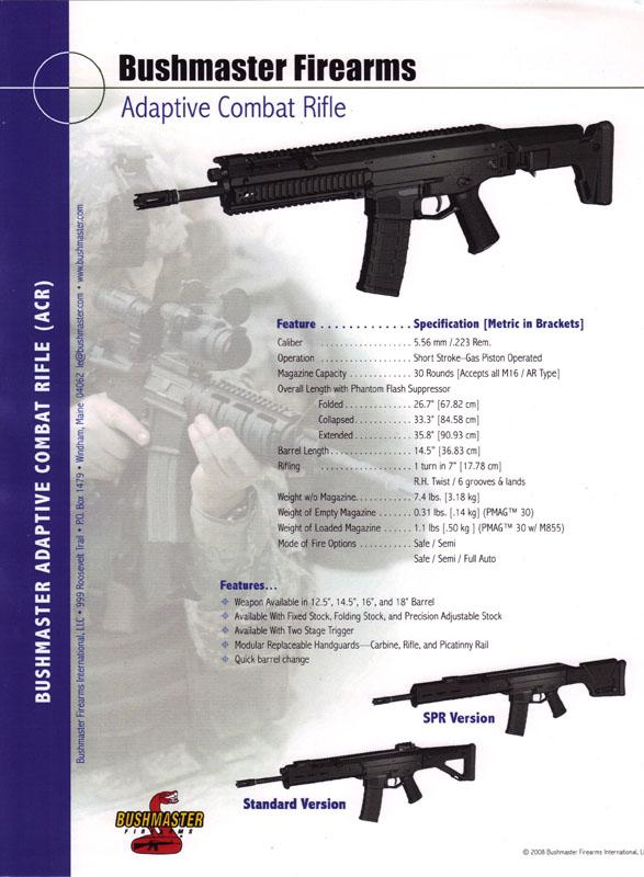 Bushmaster ACR brochure cover