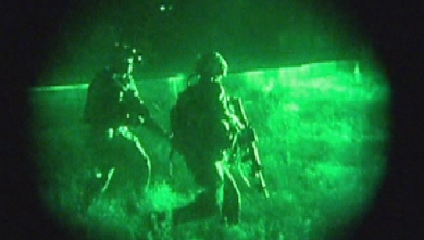 Canadian Special Operations Regiment soldiers on a night-time training exercise