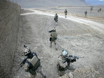CSOR operators ono patrol in Afghanistan