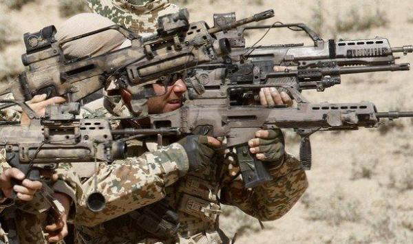 Germans rifles in Afghanistan