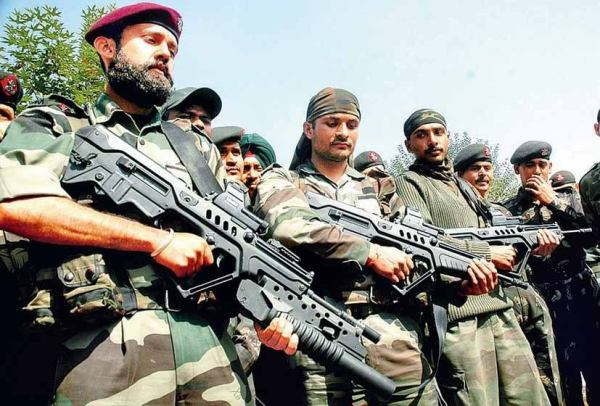 Indian soldiers with Tavor