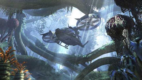 """""""Banshee"""", VTOL troop carrier.  Image copyright, Ubisoft 2009."""