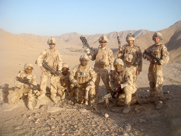 Soldiers from Alpha (Grenadier) Company of the Black Watch, 3rd Battalion, The Royal Regiment of Scotland have fought of Taliban attackers in order to facilitate the recovery of a US Army Chinook helicopter.