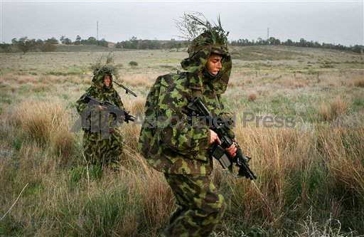 Israeli soldiers in camouflage