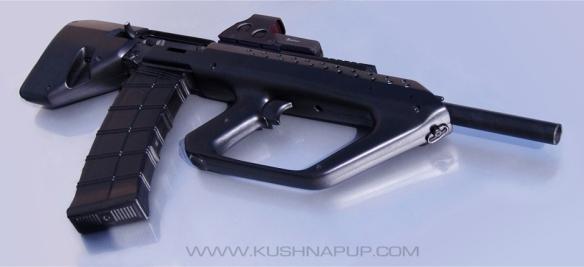 Kushnapup bullpup stock for Saiga 12 shotguns | Strike - Hold!
