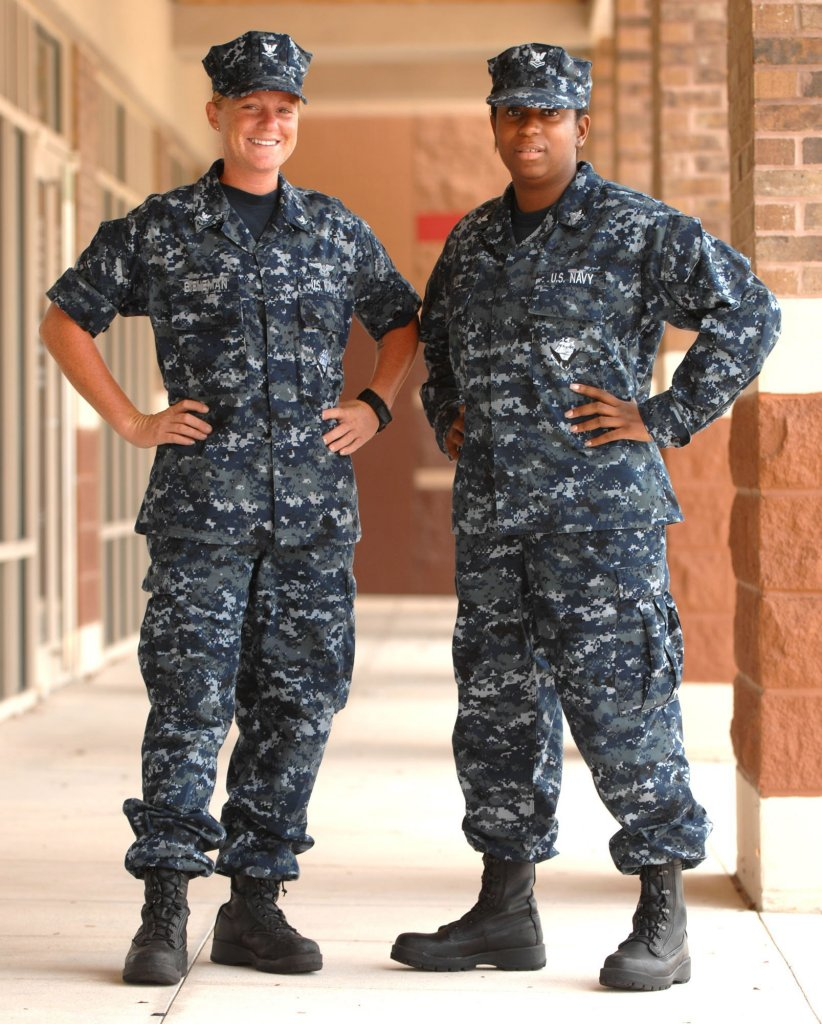Navy Working Uniform Type I – the standard Navy utility uniform in ...